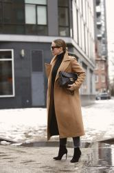 Classic Coat Worn with Two Belt Options: Which Do You Prefer?