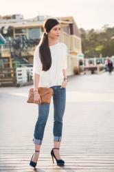 A Casual & Stylish Ankle Strap Heels Outfit for Spring