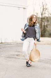 the perfect Breton striped top for spring