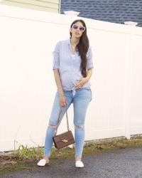 A Maternity Essential-An Oversized Button Down