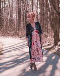 Pink Boho Maxi Dress & Duster: Friday With Friends
