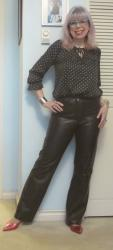 Hemmed and Happy: Black Leather Pants!