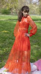 This Orange Dress is the spring dress you were looking for. Plus you can wear it for Picnic