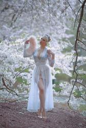 Under Floating Blossoms || New Sheer Robe by Secrets in Lace