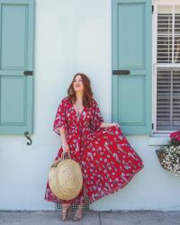 The Custom Floral Wrap Dress From Eshatki that belongs in your summer wardrobe