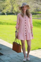 Pink Button Down Dress