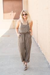 Olive Green Overalls with Kindred Shops + Everyday Runway.