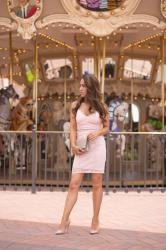 Living in Limbo + Pink Lace Bodycon Dress