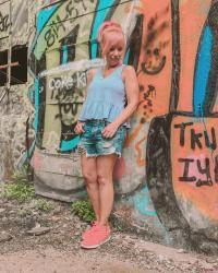 Peplum Tank Top & Denim Shorts: The Abandoned PA Turnpike