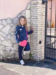 Look Total denim da bambina di Little Marc Jacobs