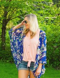 How to Style a Kimono with Shorts