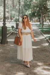 White dress; With Yoins, Yours clothing, Paco Martinez & Tendencias moda y complementos.