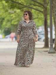 Banana Republic Leopard Maxi Shirtdress