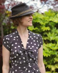 Vintage Dotty Dress and a Summer Trilby