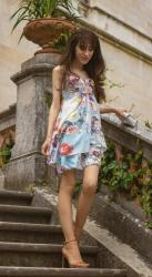 Not a gipsy type? Then wear this dress for your next garden party