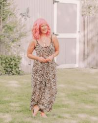 Leopard Jumpsuit & Nude Sandals: Appreciate The Moment