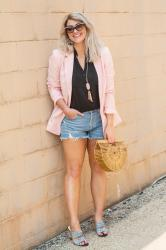 A Blazer with Cutoff Shorts for SPACES.