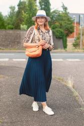 Why a Pleated Maxi With Sneaks Is a Failsafe Summer Outfit #iwillwearwhatilike
