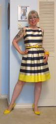 Striped Jammy Dress and Yellow
