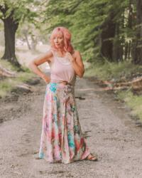 Floral Print Maxi Skirt & Tank Top: Roundup Of Randomness