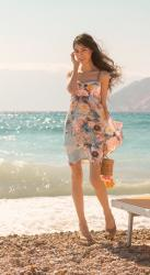This is one of the most beautiful wedding guest dresses – here is how to wear it for a beach wedding