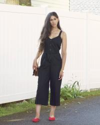 Transitioning into Fall with a Linen Jumpsuit
