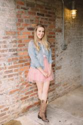 Tulle Skirt and Cowboy Boots
