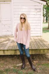 Cozy Blush Sweater