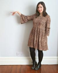 Leopard Indigo Dress