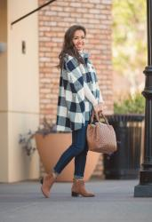 Buffalo Check Cape + Quilted Nappa Leather Tote