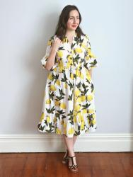 Lemon Myosotis Dress
