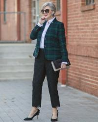 black watch plaid and lace pants