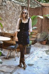 Blue overall dress – Autumn outfit