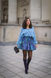 Blue Cardigan | Monochrome Blue Outfit