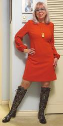 Burnt Orange and Brocade Boots