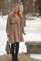 Wearing Tall Boots with Dresses & Confident Twosday Linkup