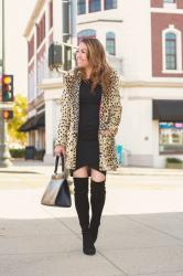 Little Black Dress for under $30 + Leopard Coat
