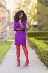 Knit Sweater Dress + OTK Boots