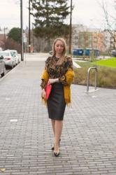 Valentine's Day Outfit Idea: Dark Florals + Faux Leather
