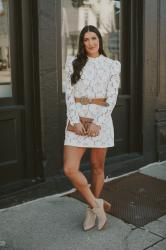 White Lace Dress + Fave Dress Brands