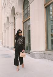 Lace + Culottes (and 5 shoes I love on sale)