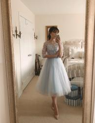 Tulle dress at home