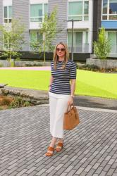 Spring Style: Nautical Stripes + Wide Leg Pants