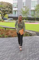 Spring Style: Military Jacket + Leopard Print Accents