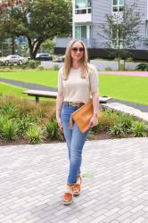 Summer Style: High-Rise Straight Leg Jeans