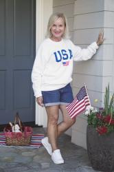 Patriotic Sweatshirt–Not Just for the 4th!