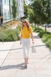 Summer Style: Yellow Top + Wide Leg Pants