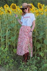 How to wear a maxi skirt in Summer, country style