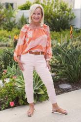 Cool and Chic Chiffon Floral Top Look