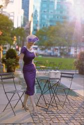 Purple || Heart My Closet 1950's Inspired Pencil Dress